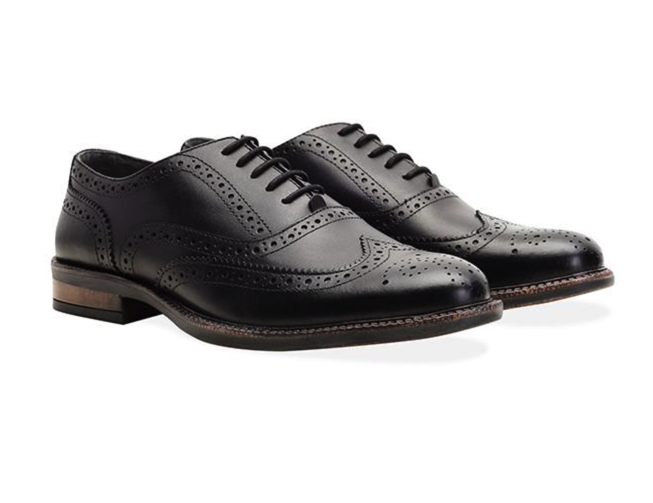 new redfoot mens black chunky oxford brogue shoe. Black Bedroom Furniture Sets. Home Design Ideas